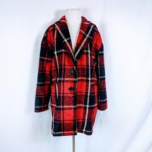 Hers & Mine Jackets & Coats - Hers & Mine Plaid Oversized Peacoat